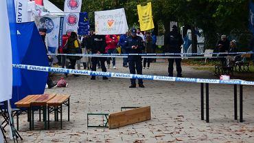 Sobota, 18,09. Strzał w białym miasteczku w Warszawie