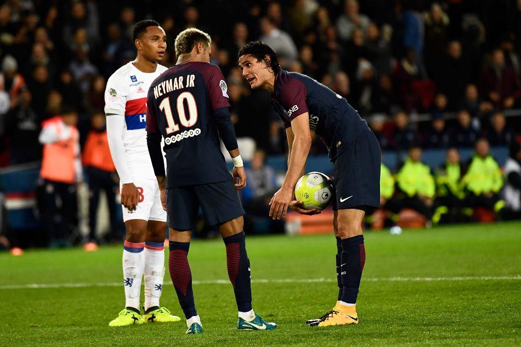 Neymar i Edinson Cavani w barwach Paris Saint-Germain