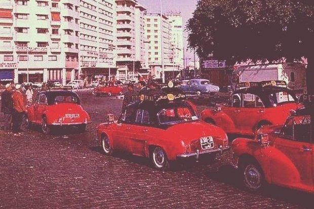 Taksówki w Maroku przed erą Mercedesa W123