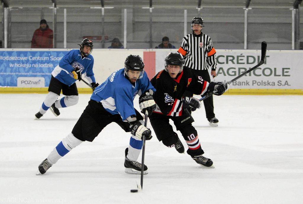 Hokej Poznań - ŁKH Łódź 7:6 w meczu grupy północnej drugiej ligi hokeja na lodzie