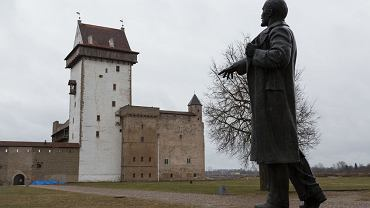 Monument to Lenin in the territory of the Narva Castle, the last monument to Lenin preserved in Estonia