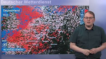 Niemieckie służby meteorologiczne ostrzegają przed silnym wiatrem/Fot. DWD - YouTube