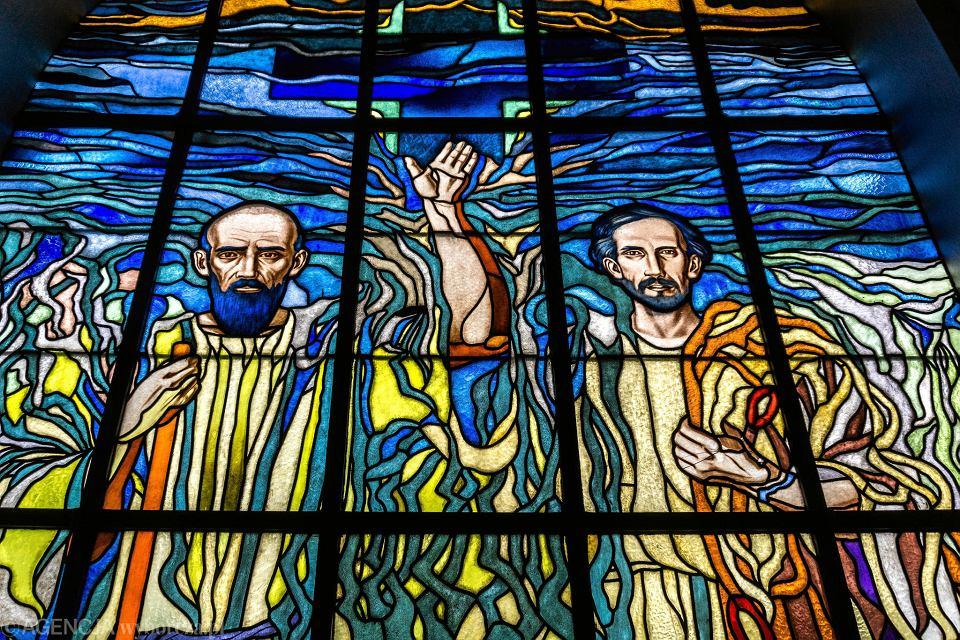 Witraż Adama Ciompy w kościele ewangelickim w Wiśle