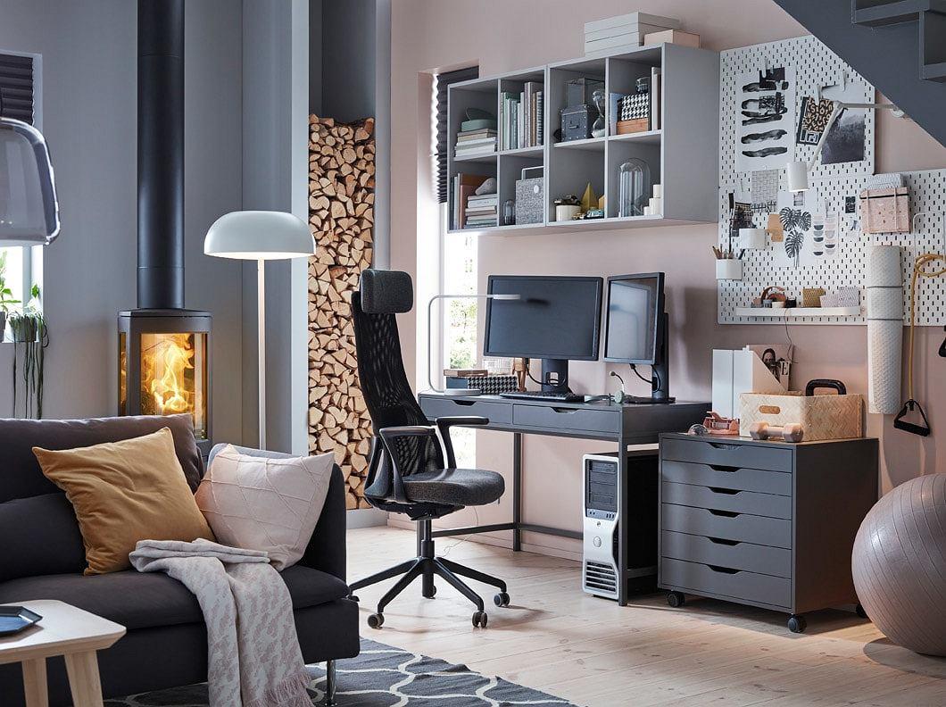 Biurko Ikea   pomysłowe rozwiązania dla domowego biura