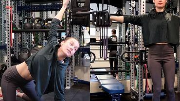 Brie Larson ćwiczy górne partie ciała