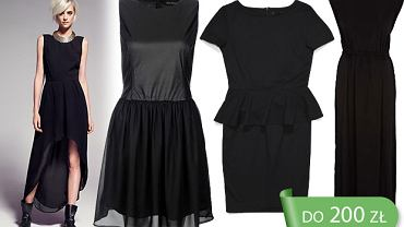 Czarne sukienki z małym dekoltem do 200 zł