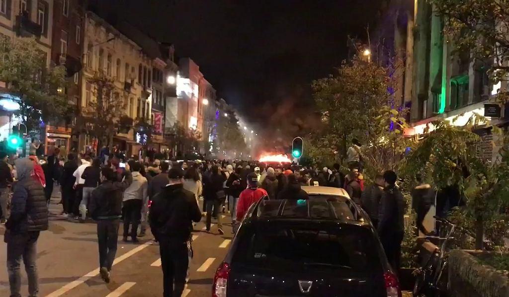 Zamieszki w Brukseli po awansie Maroka do MŚ 2018