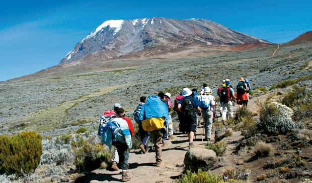 Podróże - jak zdobyć Kilimandżaro, podróże, afryka, Marangu Route, czyli ?Coca Cola Route? to najbardziej uczęszczana z  tras na Kili.