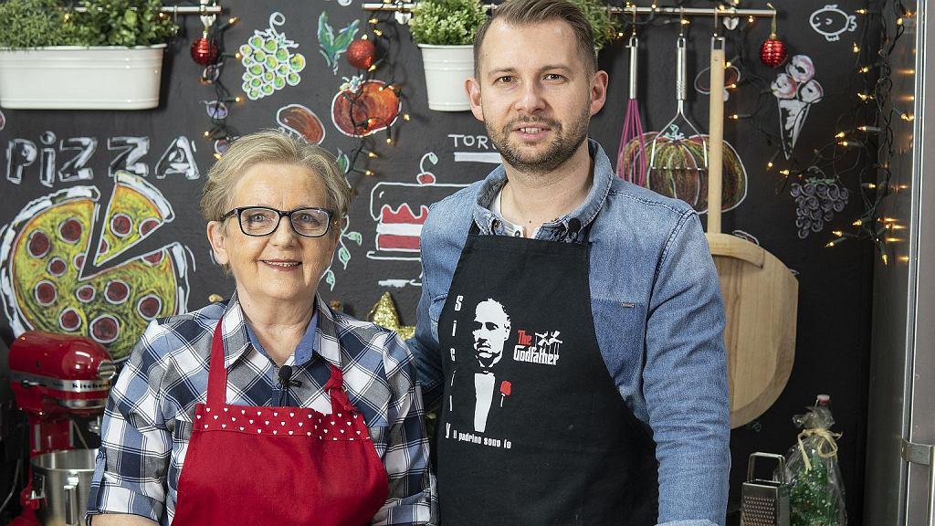 Jola Caputa i jej syn Grzegorz