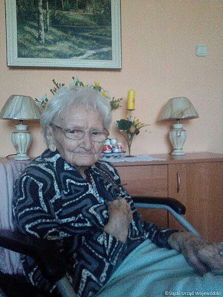 Pani Tekla z Gliwic przeżyła tyfus.