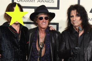 Johnny Depp, Joe Perry, and Alice Cooper