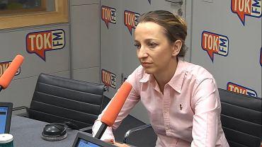 Sylwia Gregorczyk-Abram w studiu TOK FM.