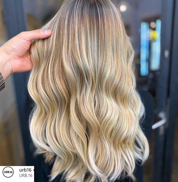 Szampański blond. Dzięki takiej kolorystyce włosy wyglądają na bardziej puszyste i gęstsze