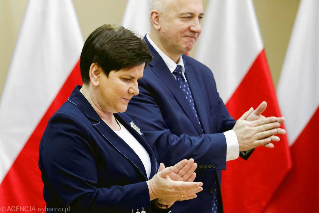 Beata Szydło i Joachim Brudziński