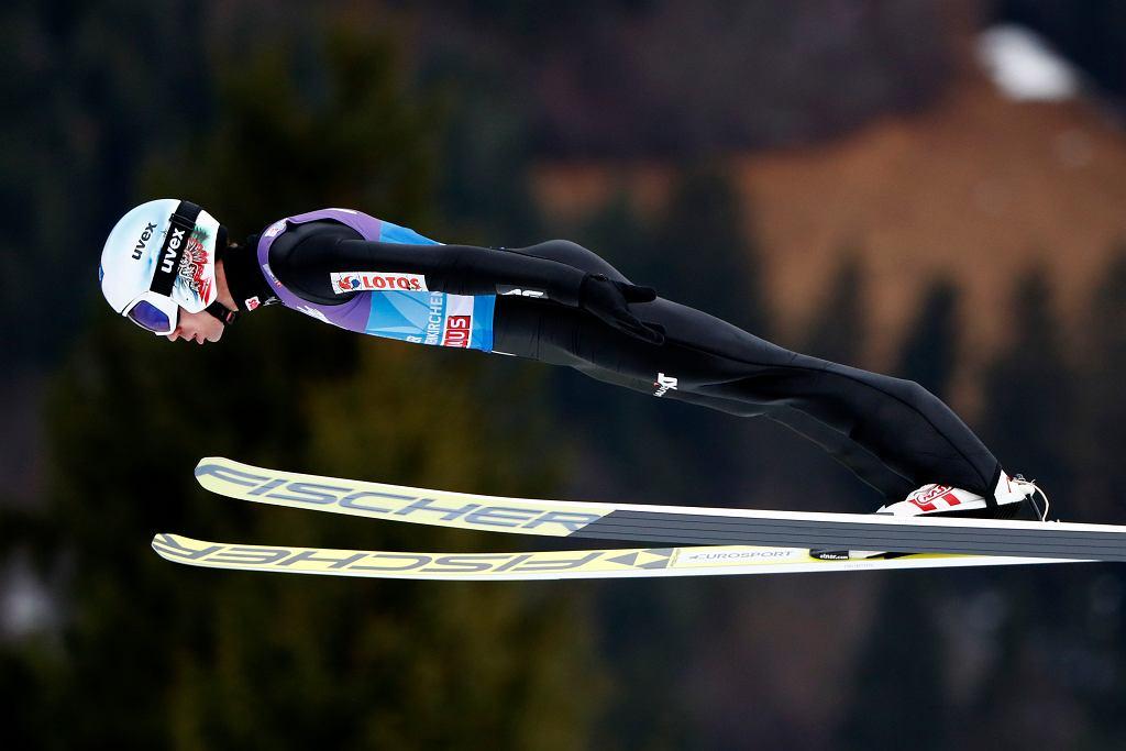 Kamil Stoch podczas konkursu w Garmisch-Partenkirchen