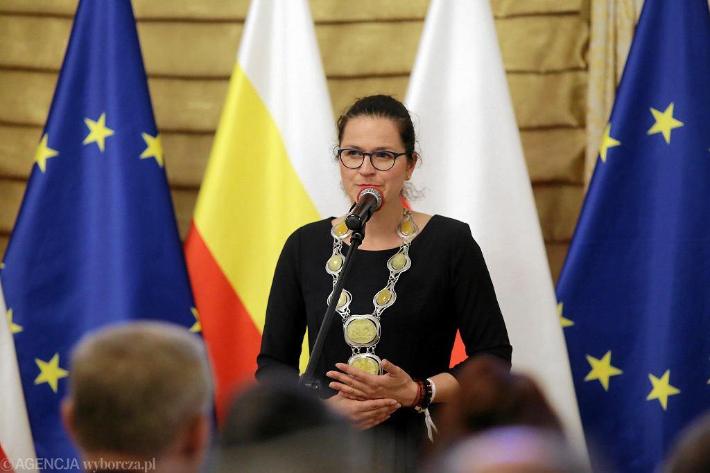 Uroczystość z okazji przyznania tytułu honorowego obywatela Białegostoku zamordowanemu prezydentowi Gdańska Pawłowi Adamowiczowi