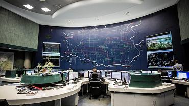 Krajowa dyspozytornia mocy w siedzibie Polskich Sieci Elektroenergetycznych
