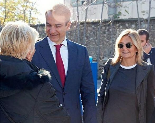 Kiriakos Micotakis z żoną Marewą Grabowski-Micotaki