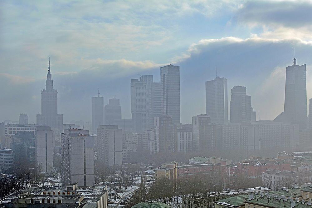 Warszawa w smogu
