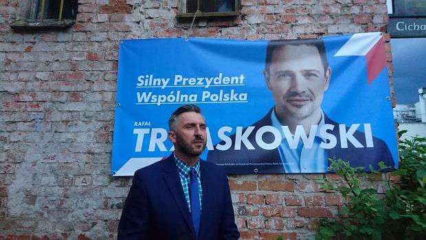 Wybory prezydenckie 2020. Wieczór wyborczy w Piekarni Cichej Kobiety. Na zdjęciu Waldemar Sługocki, szef lubuskiej PO