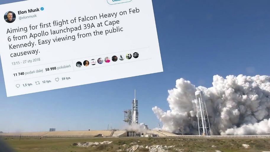 Znamy datę startu Falcon Heavy