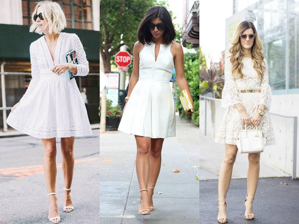 Białe sukienki na wiosnę