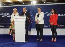 Koalicja Obywatelska przedstawia 'jedynki'. Schetyna liderem w Warszawie