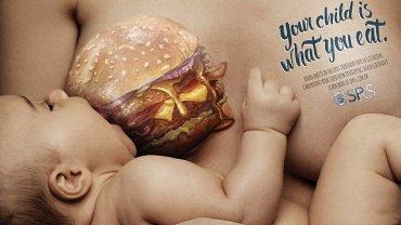 """""""Twoje dziecko jest tym co jesz"""" - Głosi hasło brazylijskiej kampanii reklamowej"""