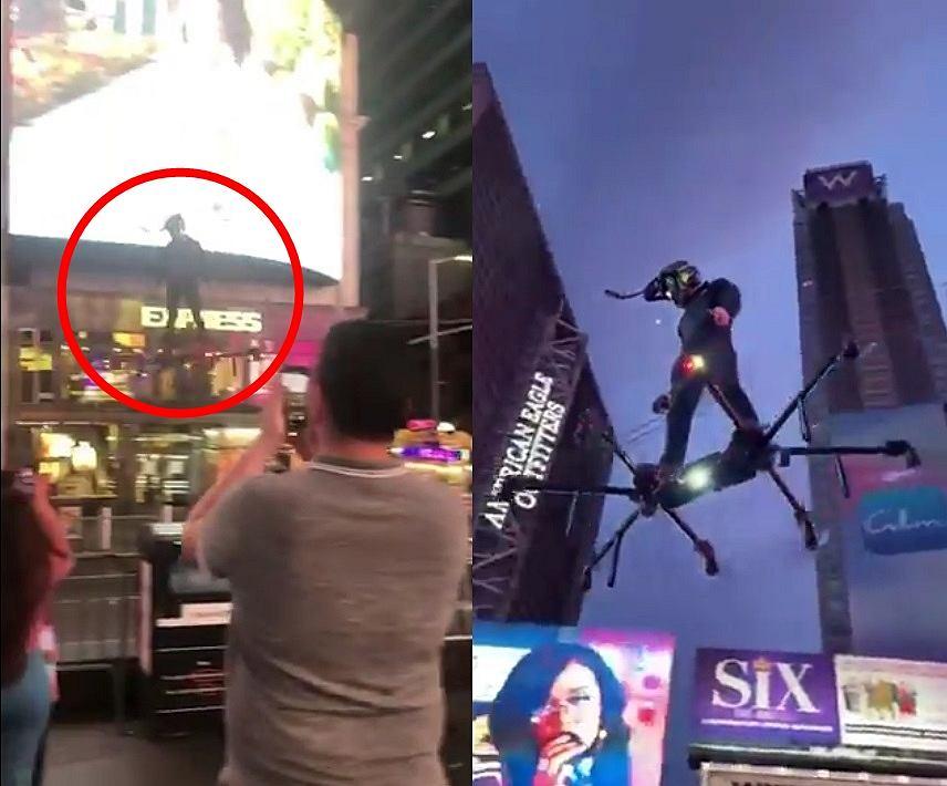 Mężczyzna z 'latającą deskorolką' przemierzał ulice Nowego Jorku. To przyszłość transportu