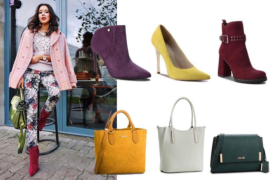 kolorowe połączenie torebki i butów / mat. partnera