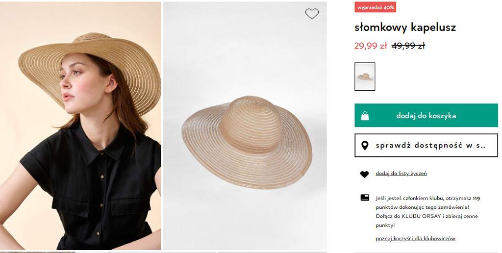 kapelusz na lato wyprzedaz