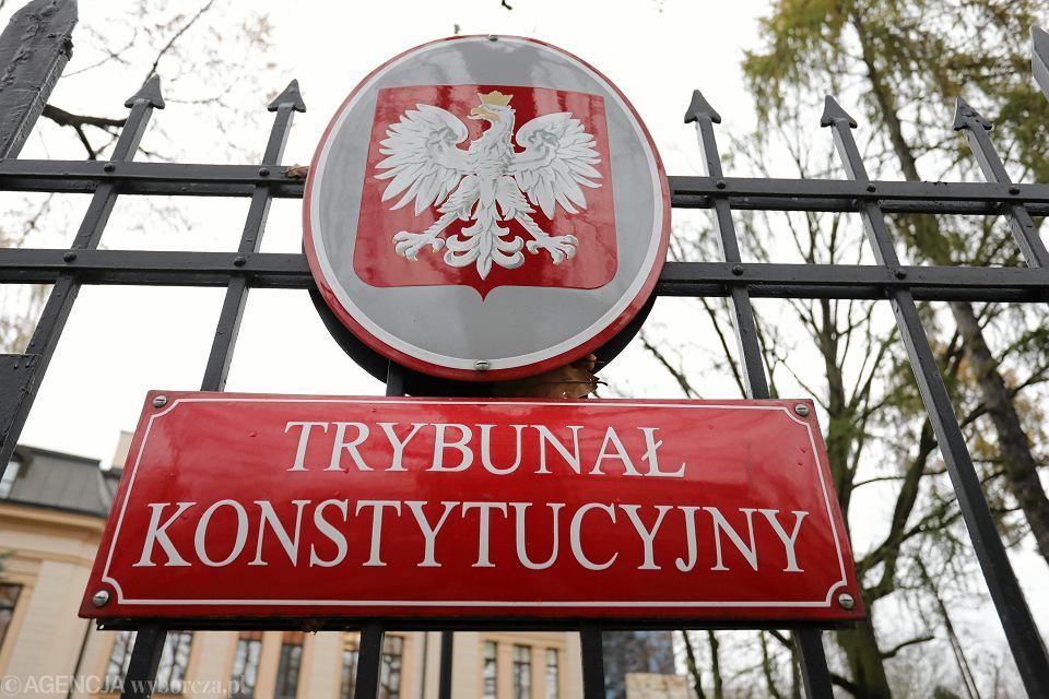 Trybunał Konstytucyjny pod wodzą prezes Przyłębskiej nie wpuszcza dziennikarzy na rozprawy. Moza jedynie sfotografować budynek z zewnątrz. Warszawa, 14 listopada 2018