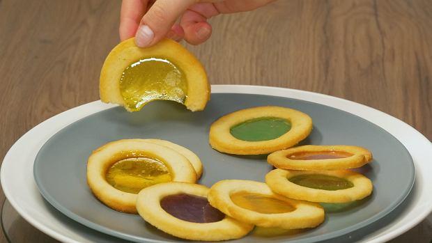 Ciastka witraże z landrynkami