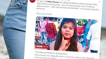 17-letnia Neha Paswan została zabita ze względu na swój strój