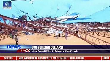 Zawalony dach kościoła