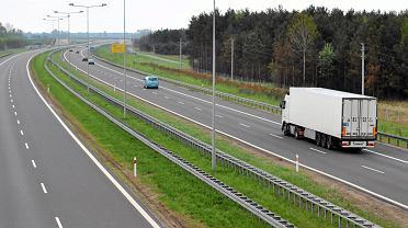 Autostrada A2 w okolicy miejscowości Dąbie