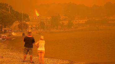 Rekordowe upały na południu Europy przyczyniły się do pożarów w Grecji
