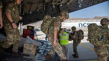 Siły brytyjskie wysłane do pomocy w operacji PITTING mającej na celu ratowanie obywateli brytyjskich w Afganistanie, 15 sierpnia 2021 r.