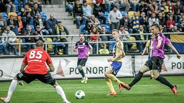 Mateusz Szwoch podczas meczu Arka Gdynia - Dolcan Ząbki 0:2