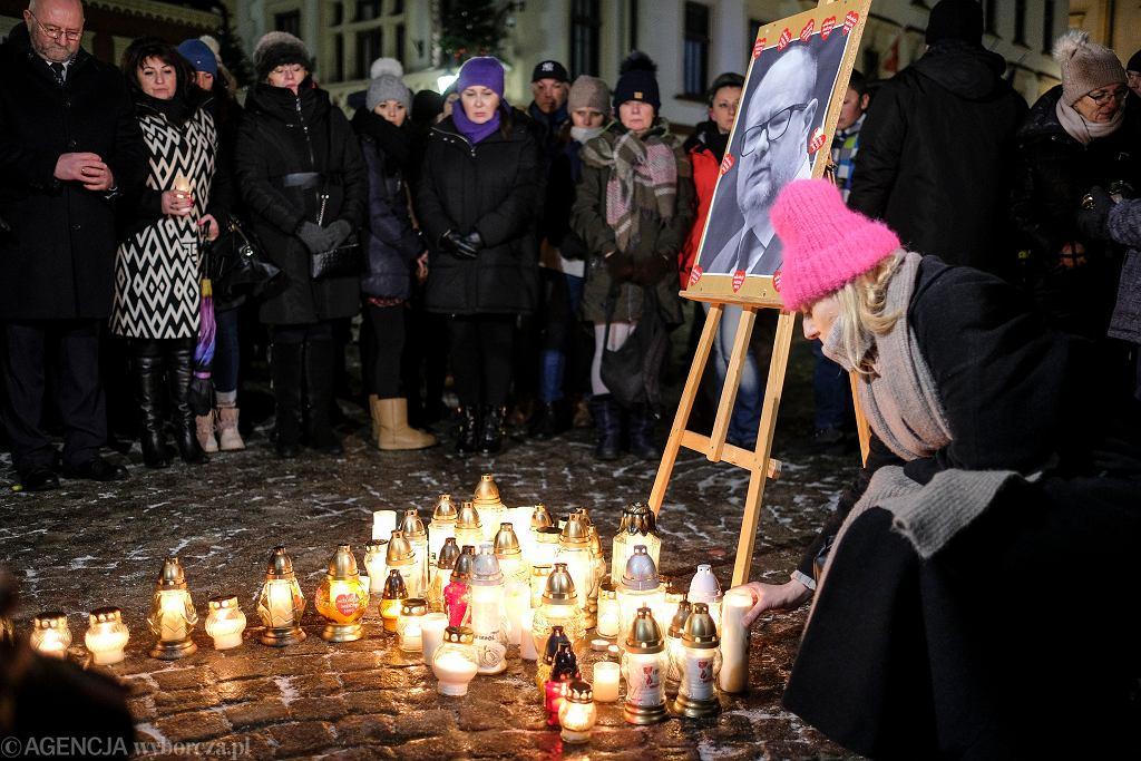 Mieszkańcy Gdańska upamiętnili prezydenta Pawła Adamowicza