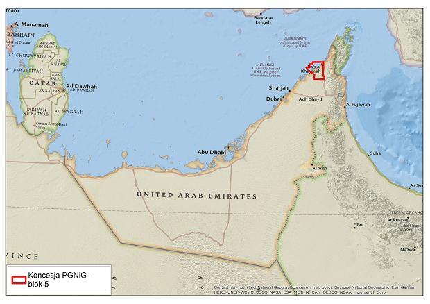 Koncesja PGNiG w Zjednoczonych Emiratach Arabskich