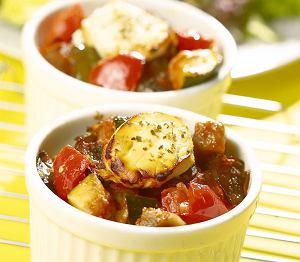 Zapiekane warzywa z kozim serem