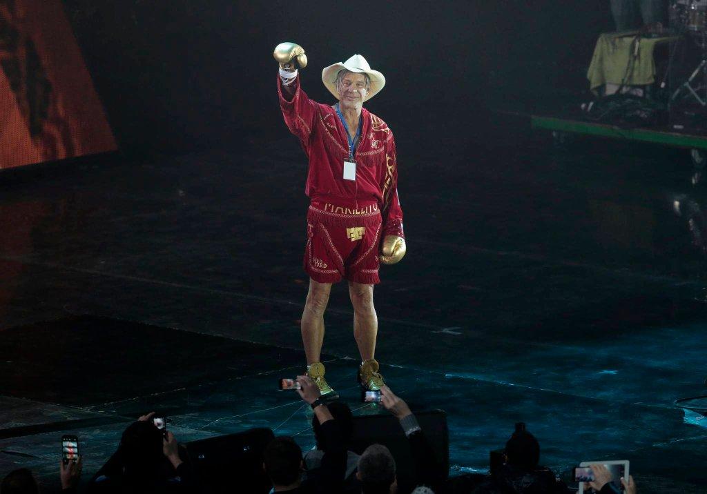 Mickey Rourke świętuje wygraną w Moskwie