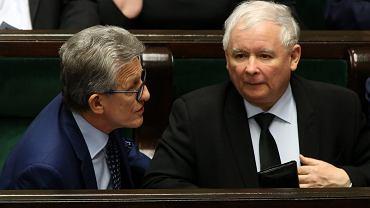 Stanisław Piotrowicz i Jarosław Kaczyński