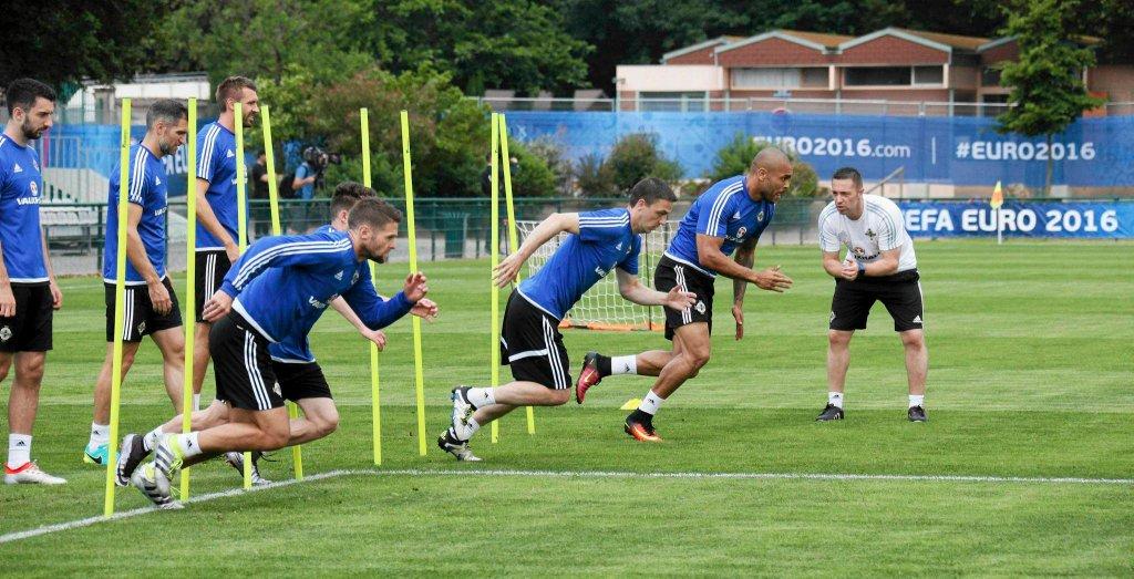 Euro 2016. Trening reprezentacji Irlandii Północnej