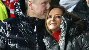 Jacek Kurski z żoną, Joanną Kurską
