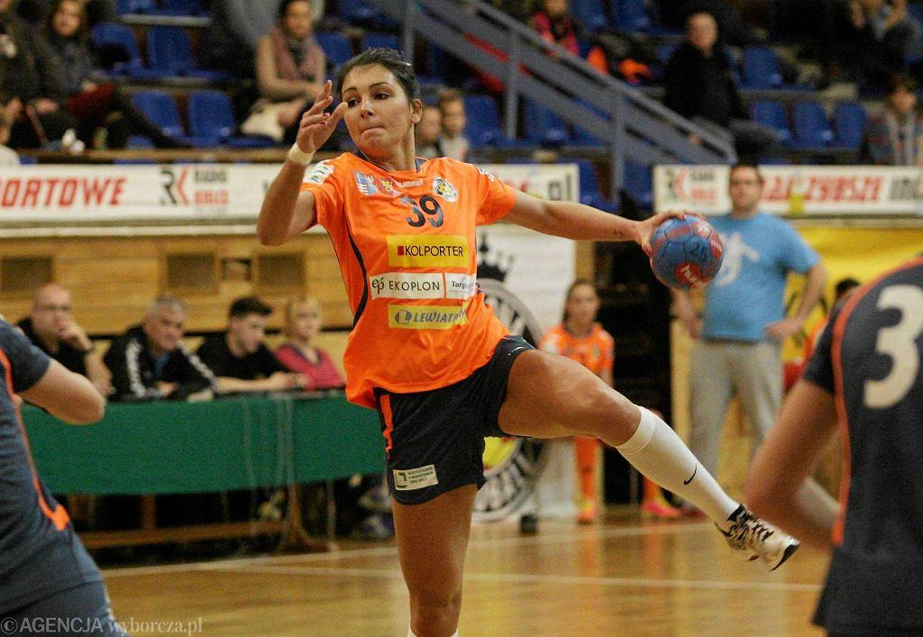 Alina Nowak podczas meczu Korona Handball - SMS ZPRP Płock