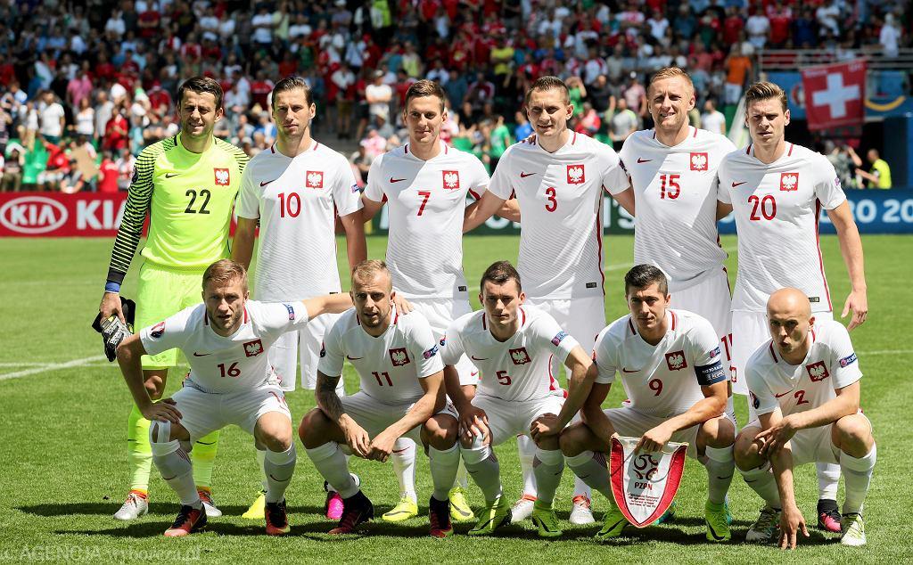 Polscy piłkarze przed meczem ze Szwajcarią