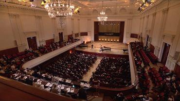 Sala w Filharmonii Narodowej w trakcie trwania Konkursu Chopinowskiego