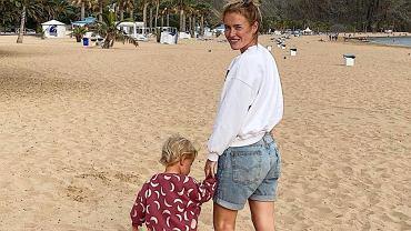 Olga Frycz z córką